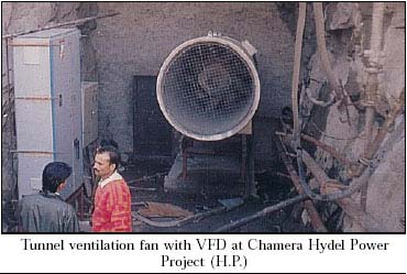 tunnel ventilation fan with frequency inverter